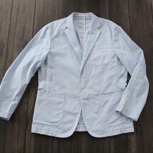 Uniqlo Spring Blazer - blue pinstripe L